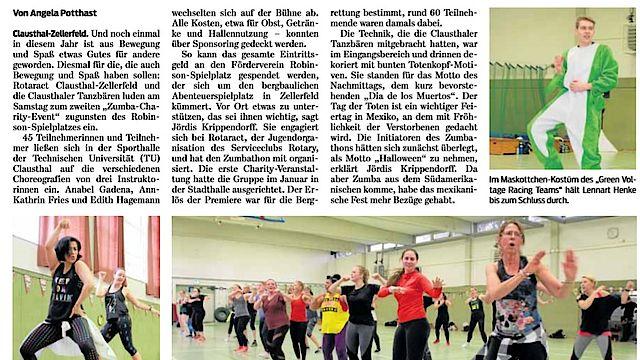 Aus der Presse: Goslarsche Zeitung vom 29.10.2019
